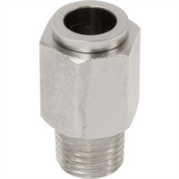 "PUSH-IN FITTING, STRAIGHT, 3/8"" TUBE  x 1/4"" NPT 11736 CLEMCO 11736 FORECAST 111-7360"