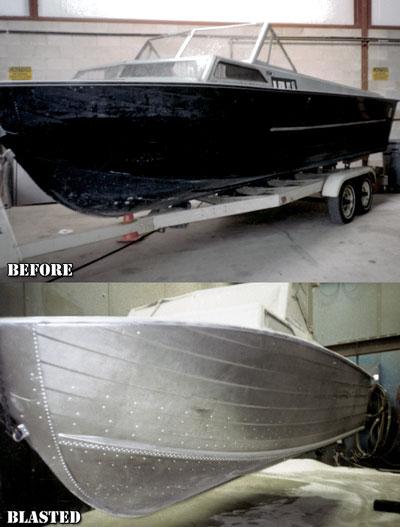 Aluminium Boat Paint Removal