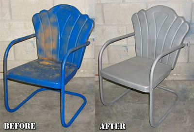Metal Lawn Furniture Restoration