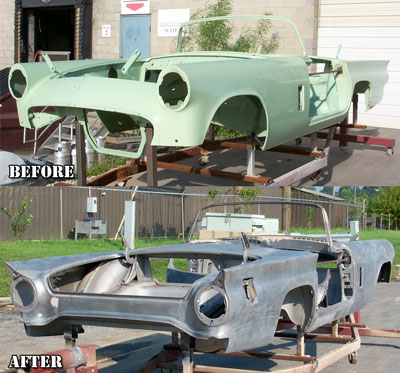 Paint stripper body Car