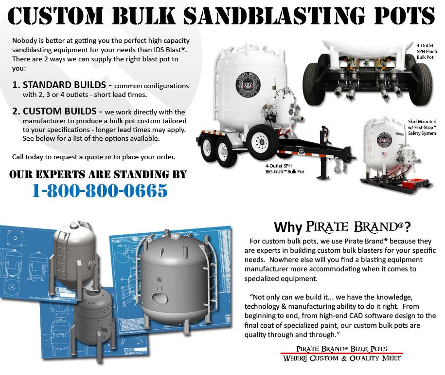 Custom Bulk Sandblasting Pots on Sandblaster Parts